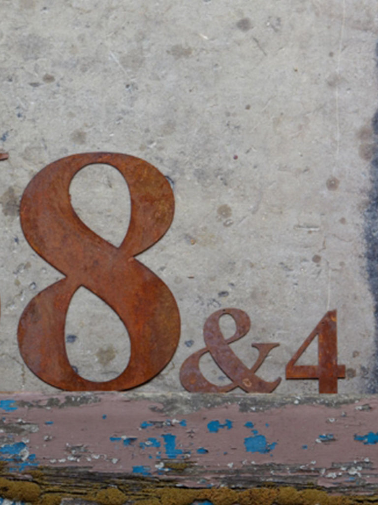 Re-found Objects Rusty Numbers 8