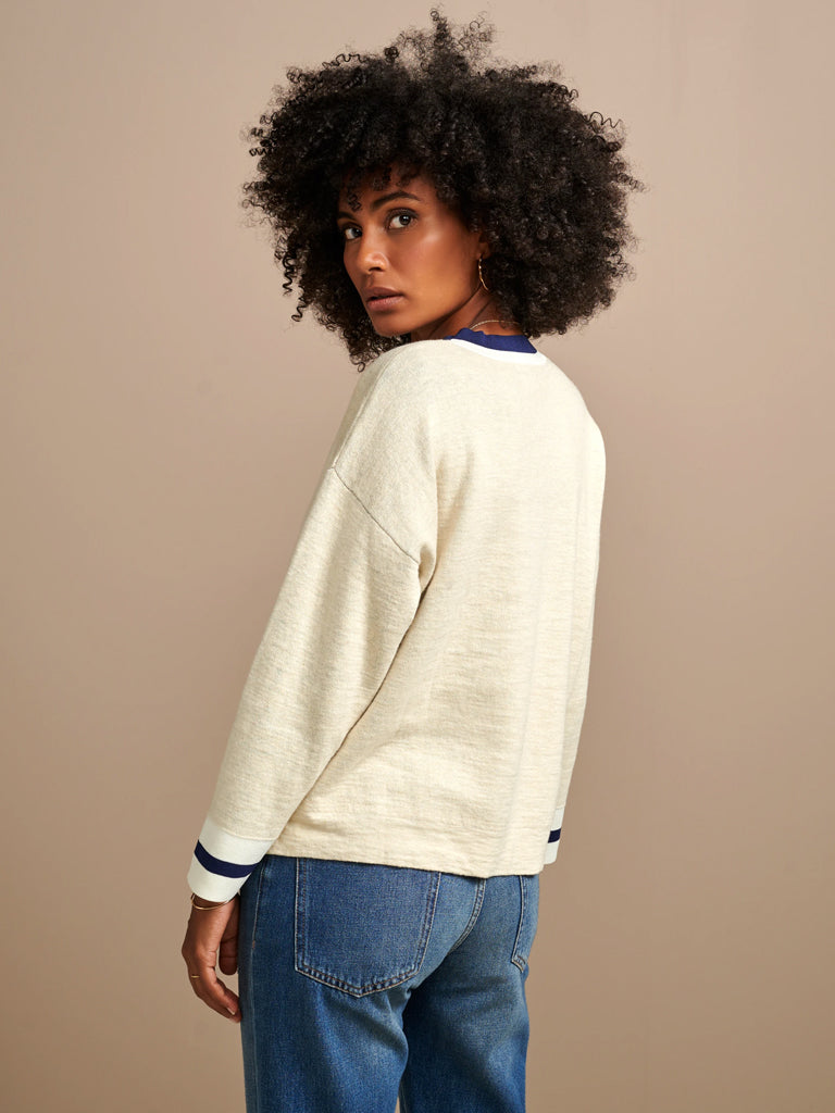 Bellerose Gopak Sweater in Ecru