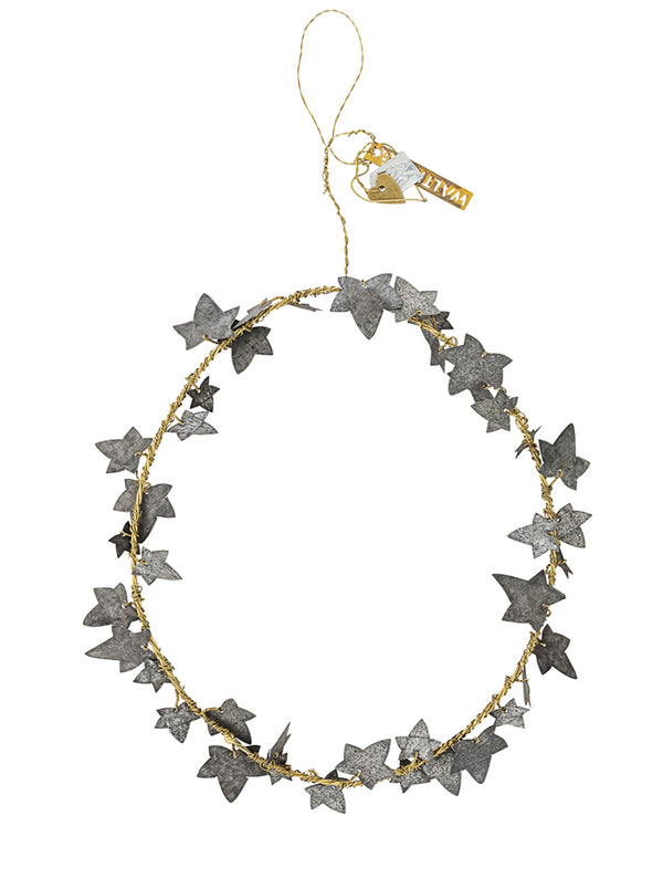 Walther & Co Ivy Wreath in Metal