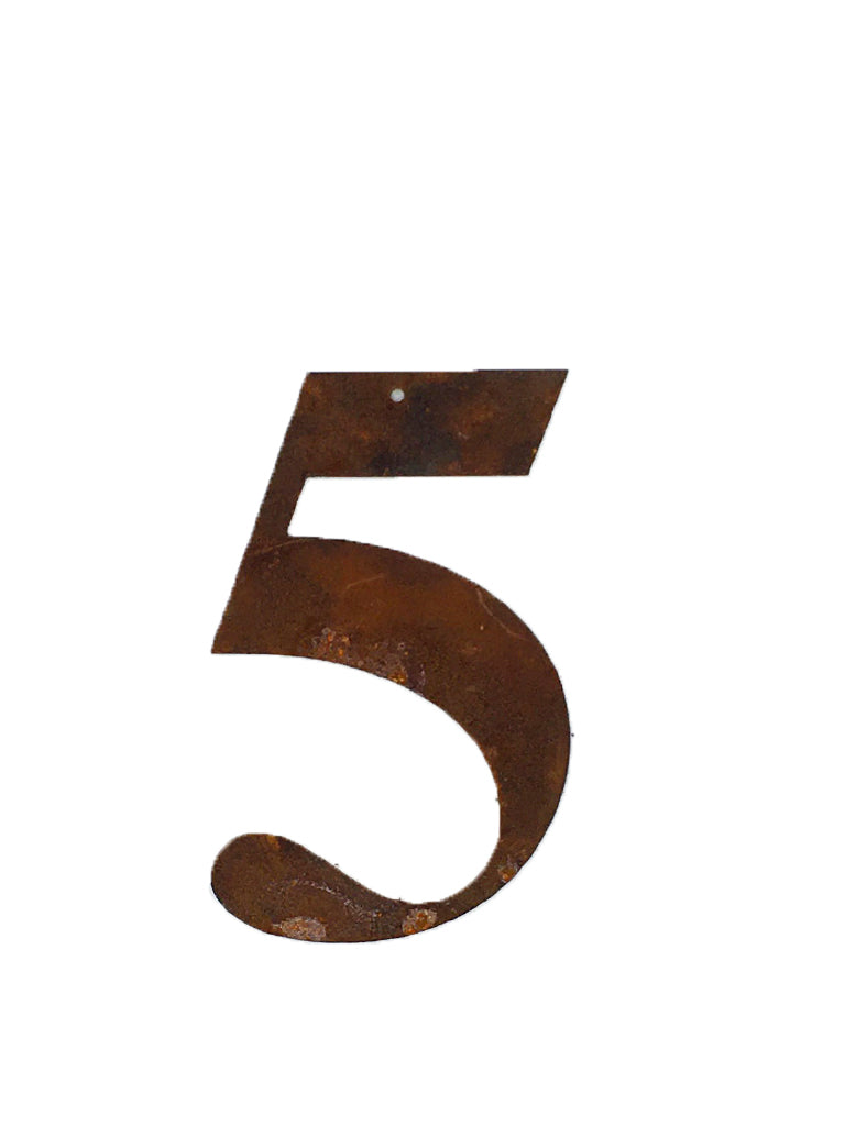 Re-found Objects Rusty Numbers 5