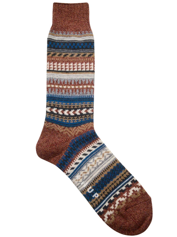 Chup Butte Socks in Brick