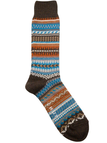 Chup Butte Socks in Chocolate