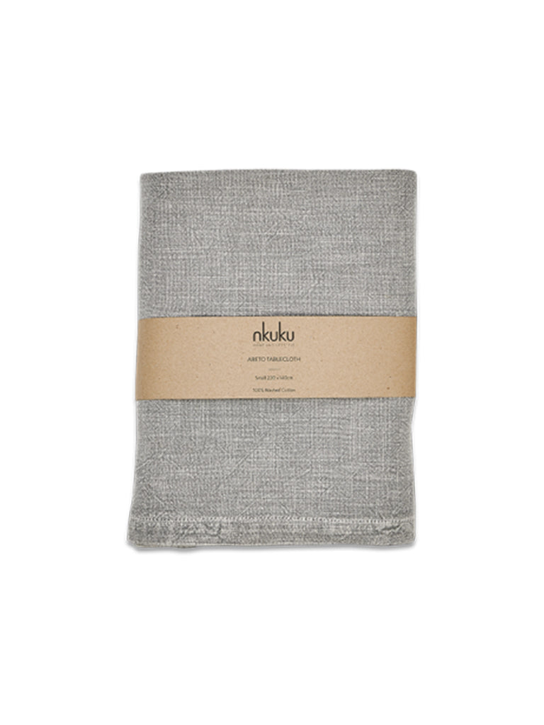 Nkuku Small Abeto Table Cloth in Washed Grey