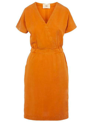Folk Alber Dress in Marigold