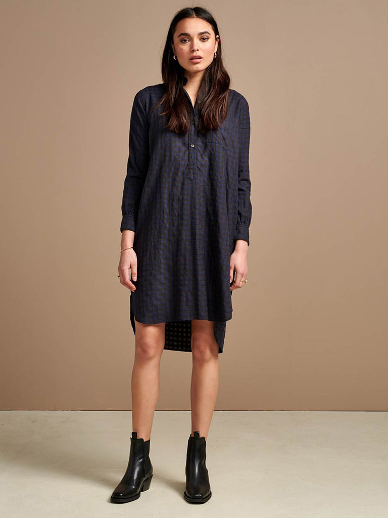 Bellerose Amerik Dress in Blue Check