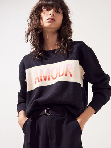 Suncoo Amour Sweater in Black