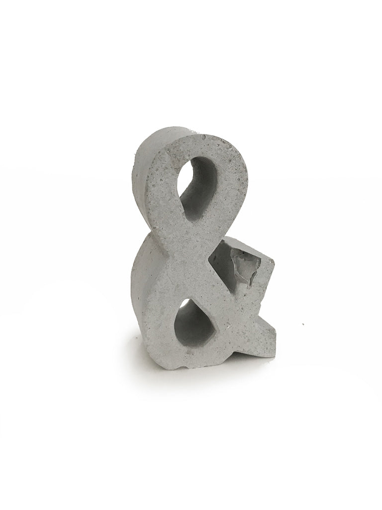 An Artful Life Concrete Ampersand