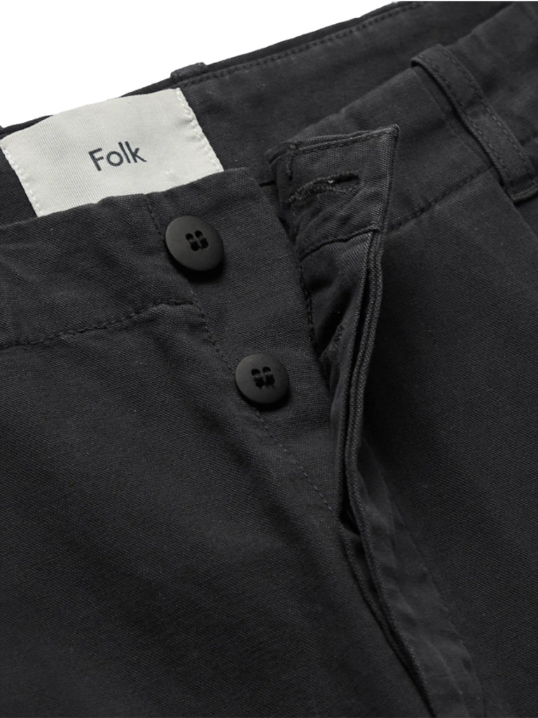 Folk Assembly Trousers in Black