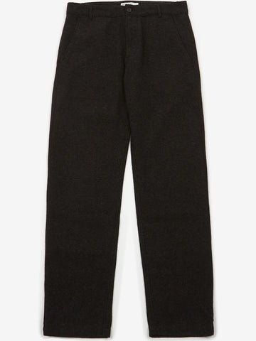 Universal Works Aston Wool Marl Trousers in Charcoal