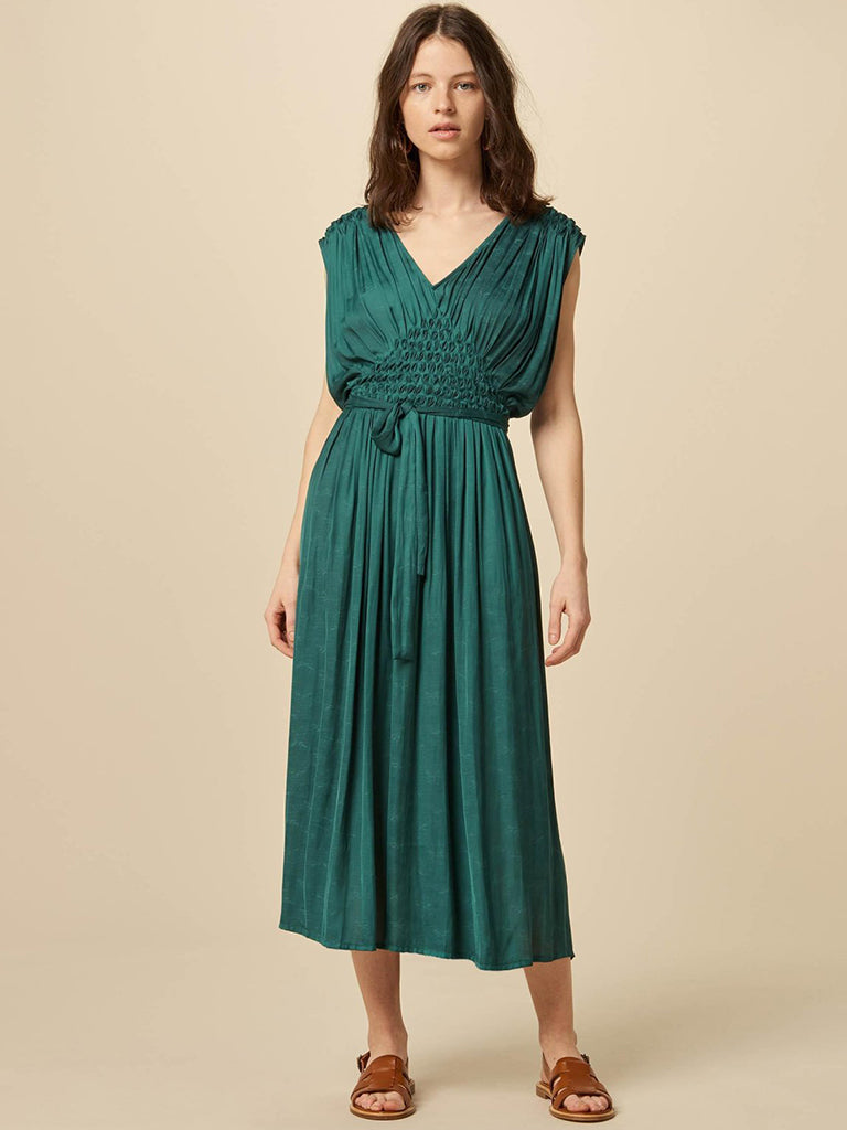 Sessun Ava Dress in June Green