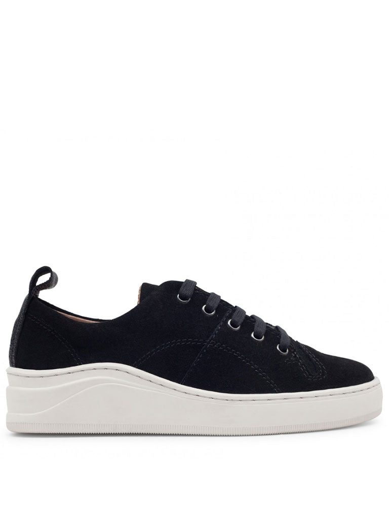 Hudson Sierra Suede Trainer in Black