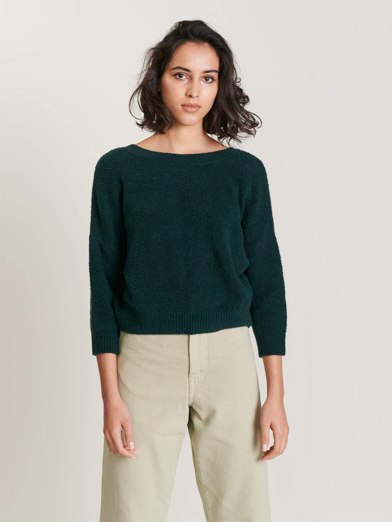 Bellerose Adine V Knit in Baobab Green