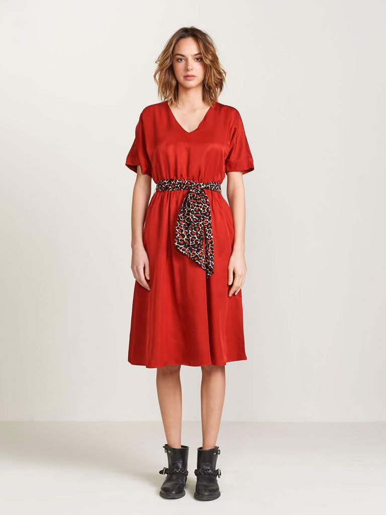 Bellerose Hoek Dress in Scarlet