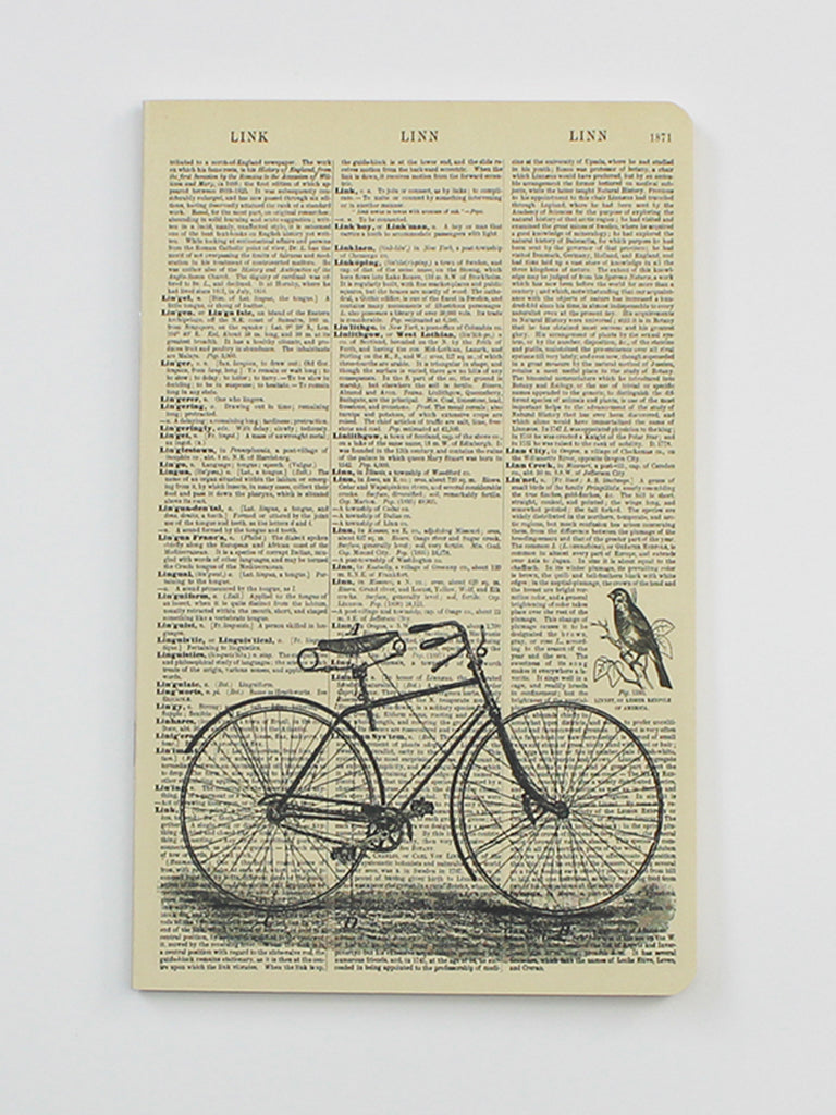We Act Bicycle Dictionary Art Notebook