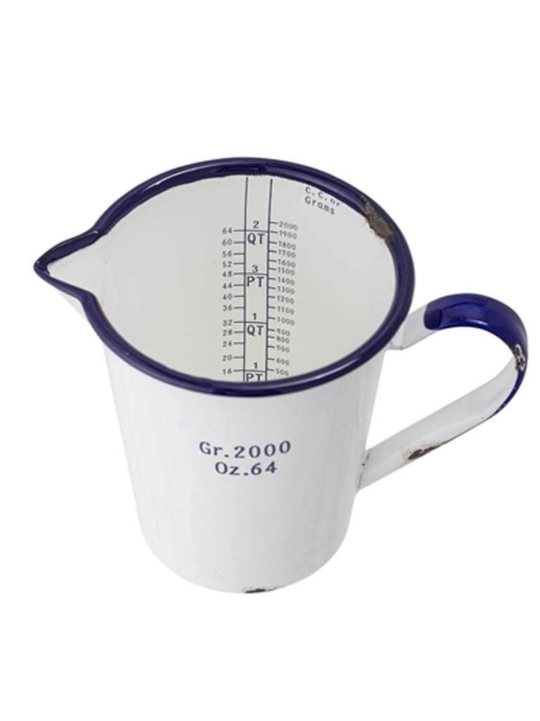 Bloomingville Rustic Measuring Jug in White