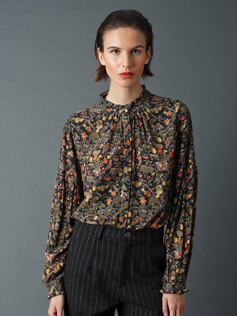 Indi & Cold Baroque Blouse in Black