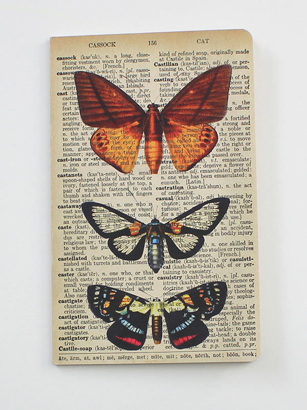 We Act Butterflies Dictionary Art Notebook