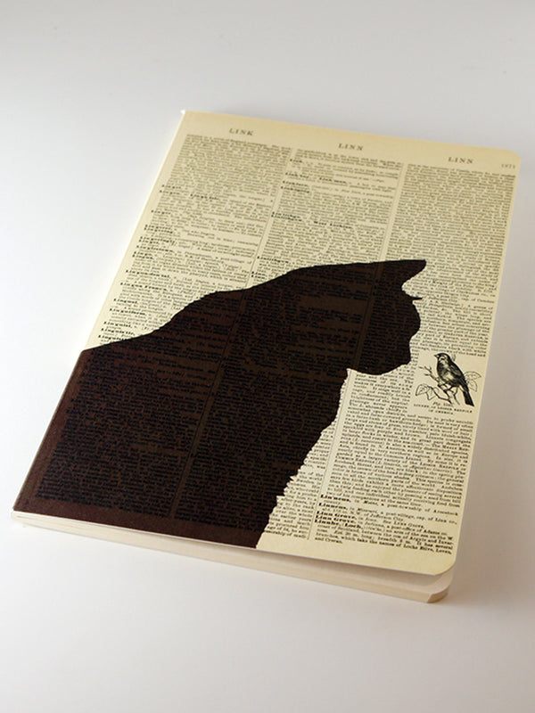 We Act Black Cat Dictionary Art Notebook