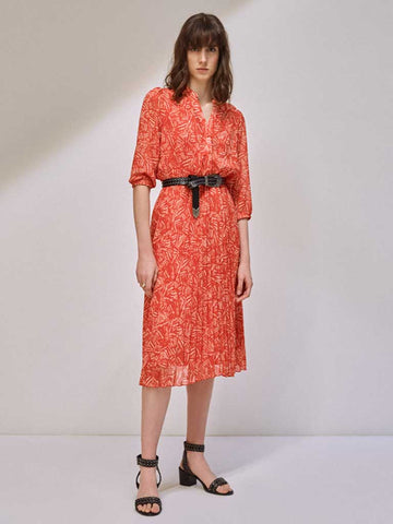Suncoo Chady Midi Dress in Geranium