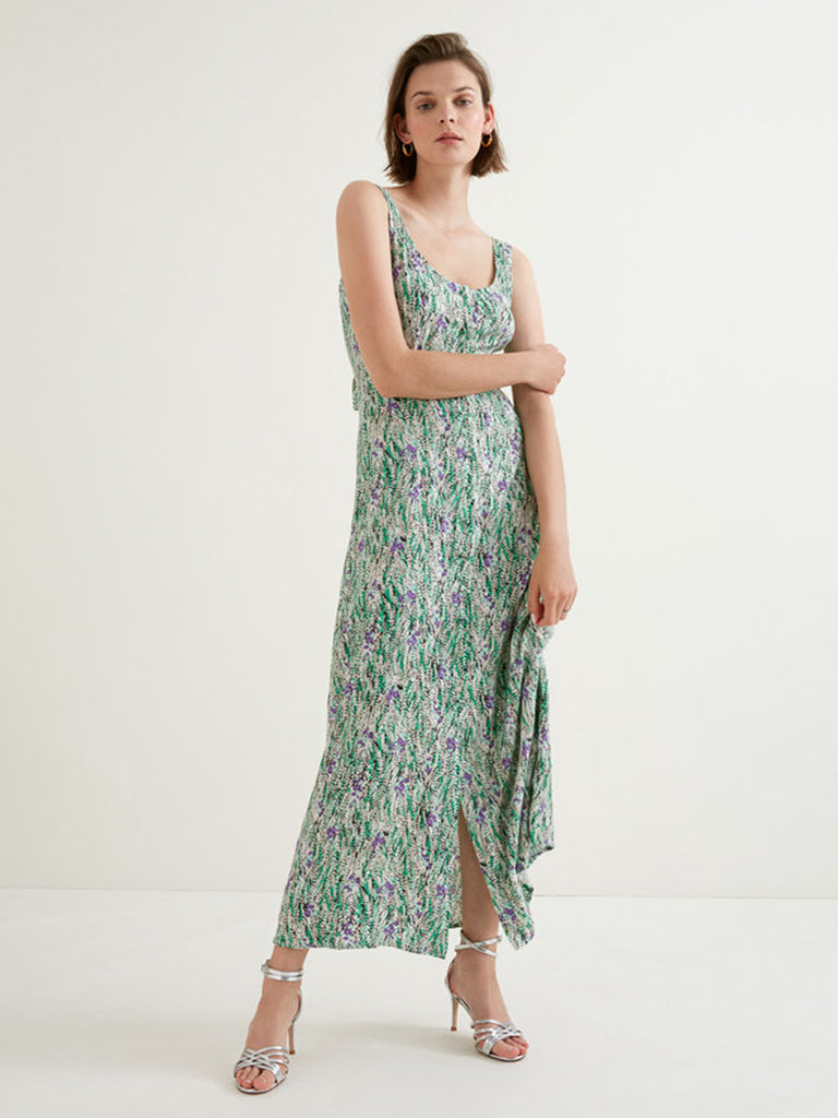 Suncoo Chelsey Maxi Dress in Anise