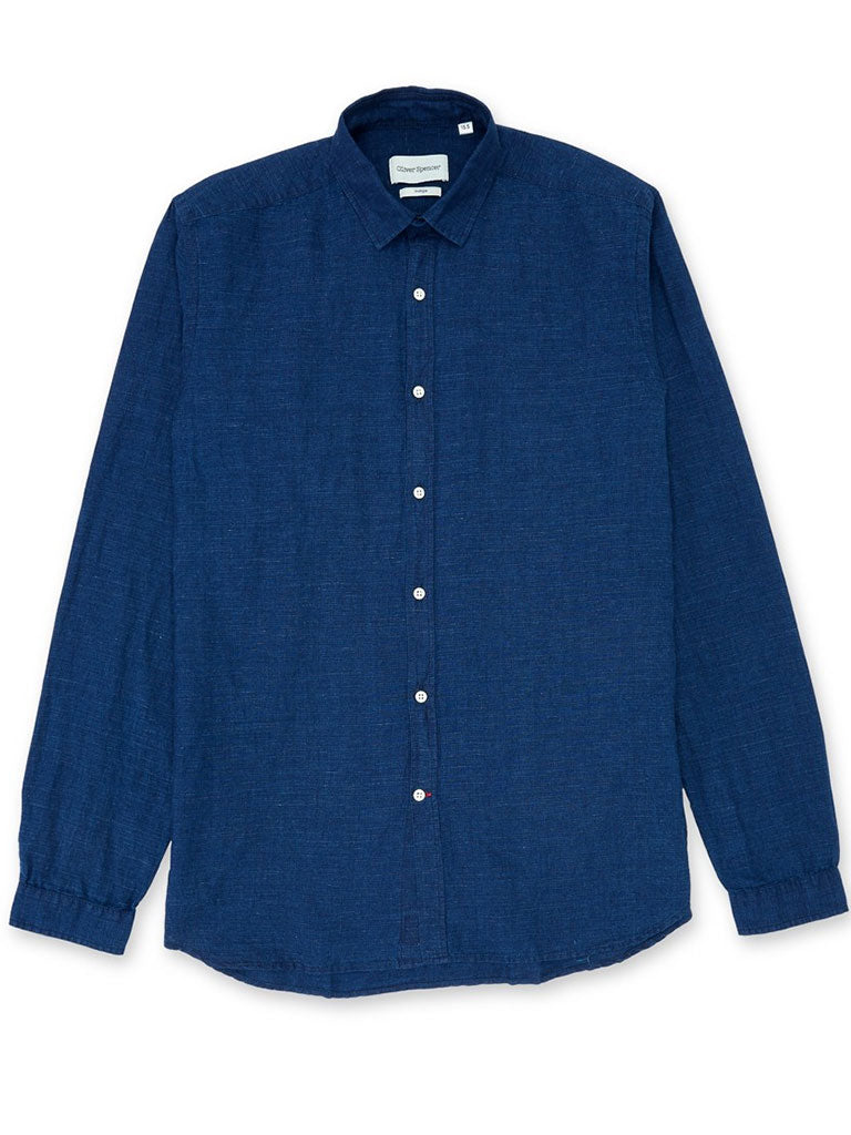 Oliver Spencer Clerkenwell Shirt in Rockwell Indigo