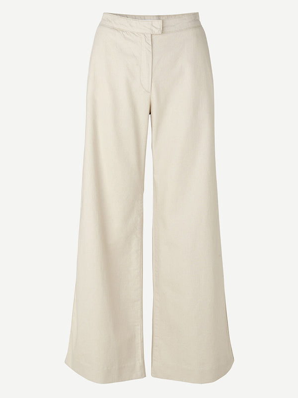 Samsoe Samsoe Collot Trouser in Warm White