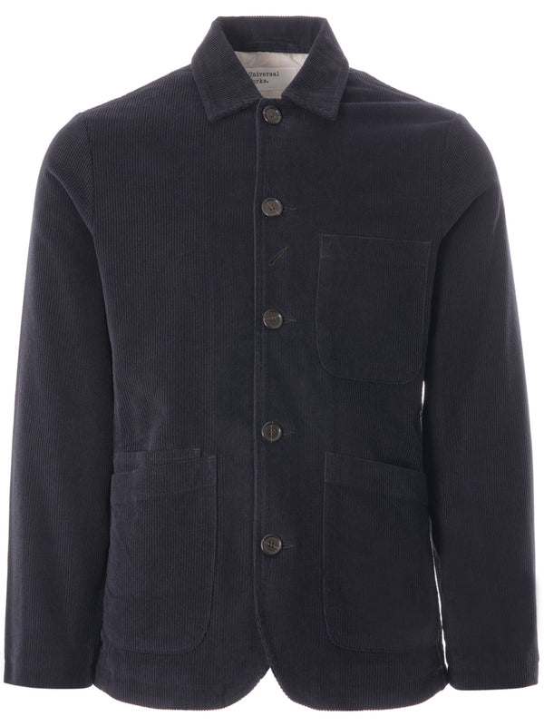 Universal Works Cord Bakers Jacket in Navy