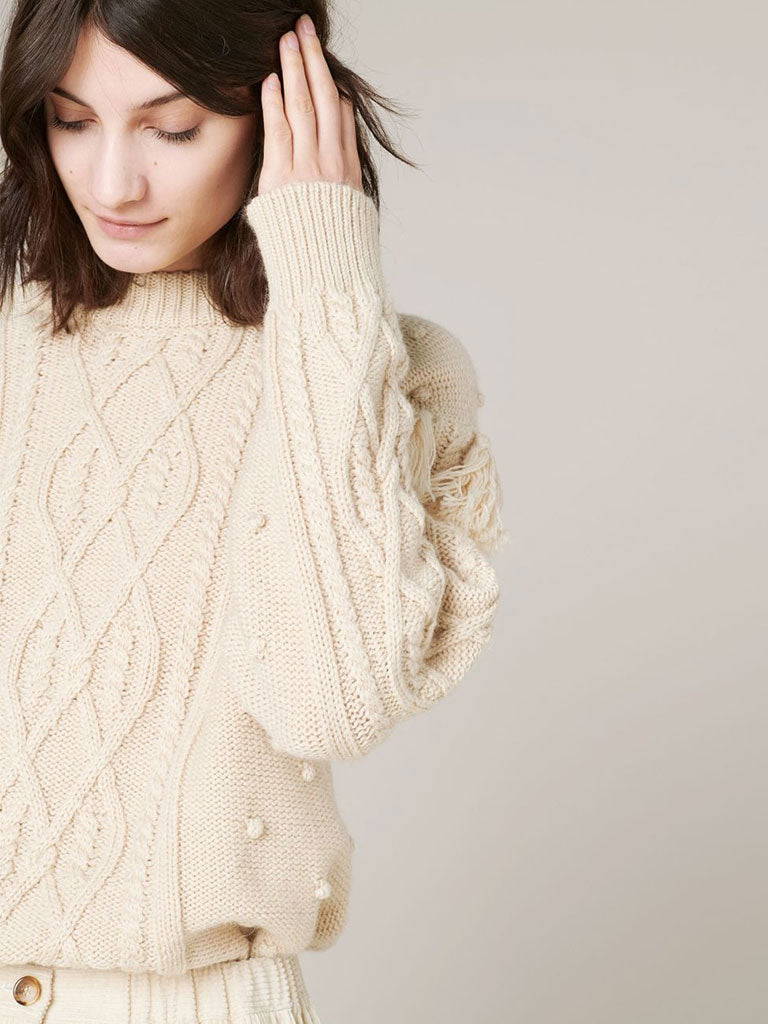 Sessun Cork Knit in Sandshell