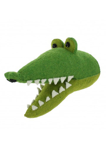 Fiona Walker Mini Croc Head in Green