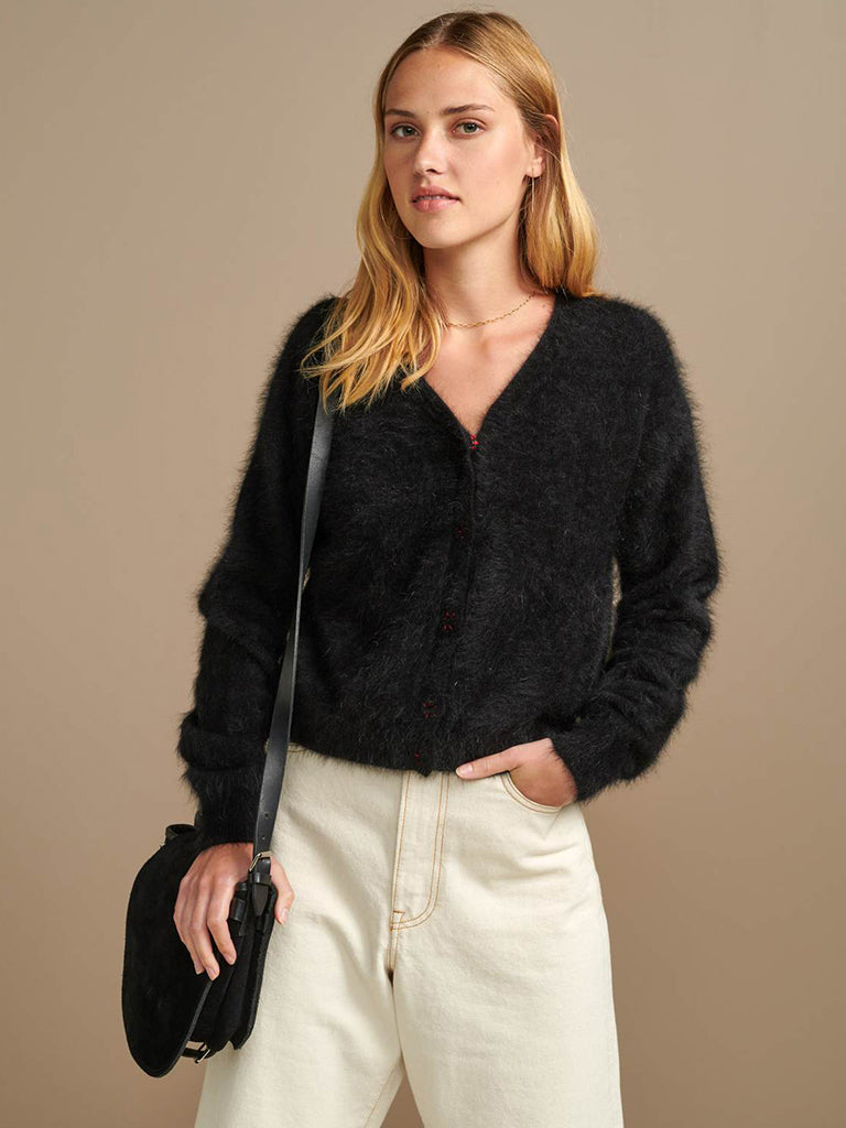 Bellerose Datam Cardigan in Off Black