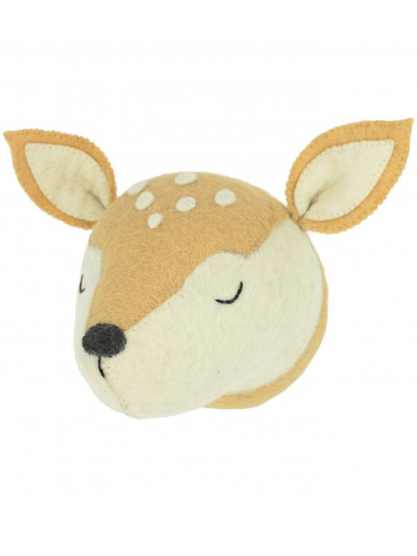 Fiona Walker Sleepy Deer Head in Brown