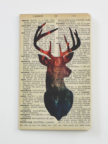 We Act Galaxy Deer Dictionary Art Notebook