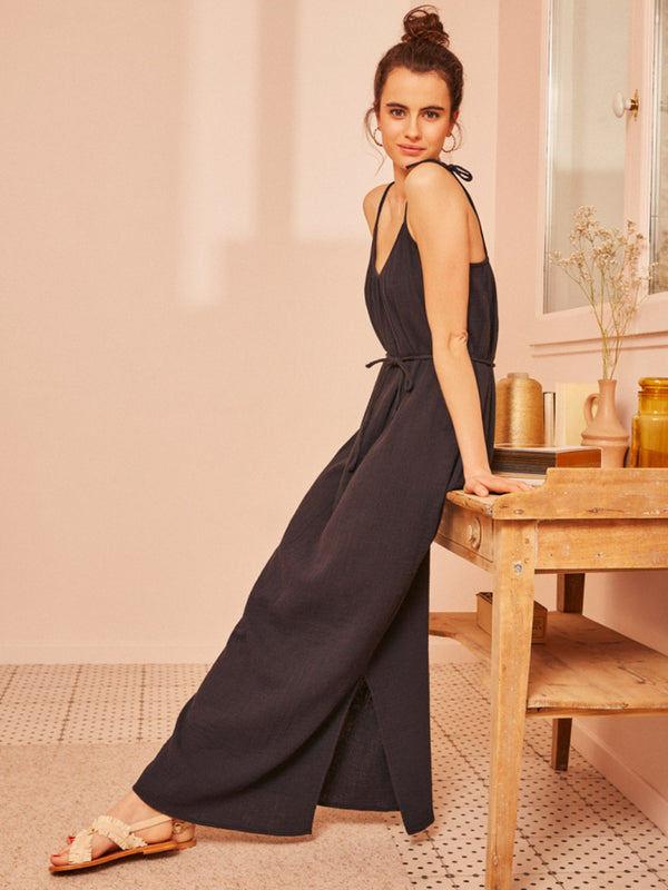 Des Petits Hauts Tiany Maxi Dress in Black