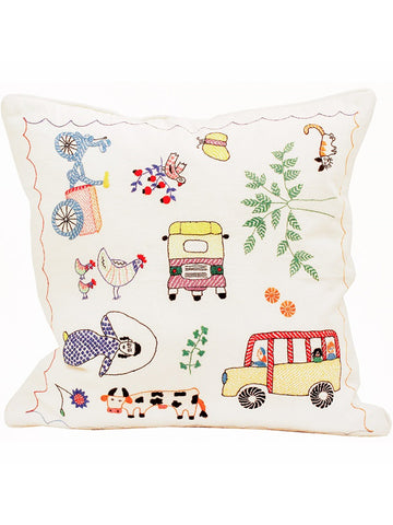 Afro Art Dhaka Life Cushion & Cover