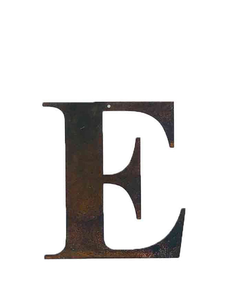 Re-found Objects Rusty Letters - E