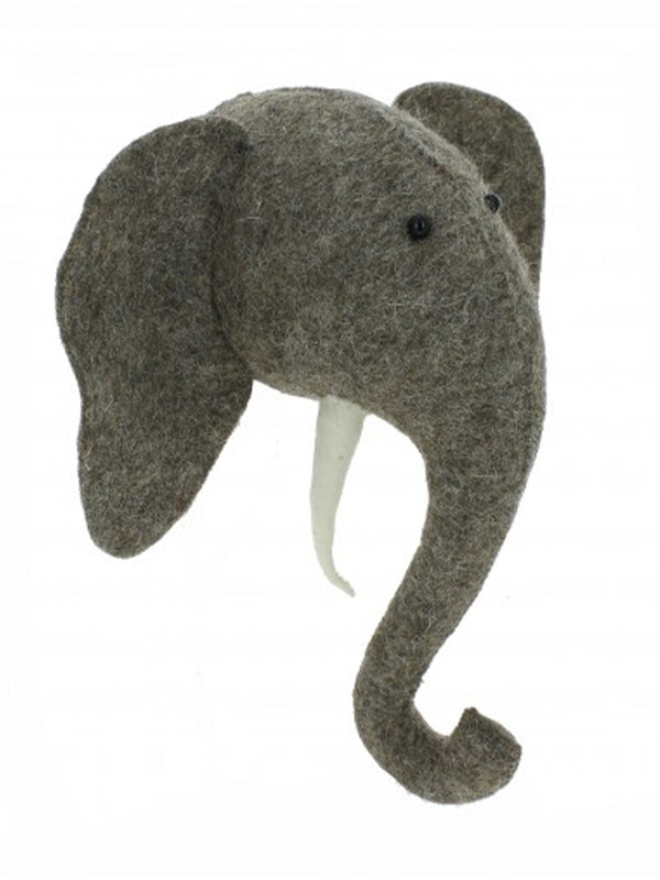 Fiona Walker Mini Elephant Head in Grey