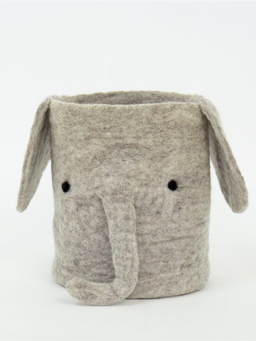 Afro Art Elephant Storage in Grey