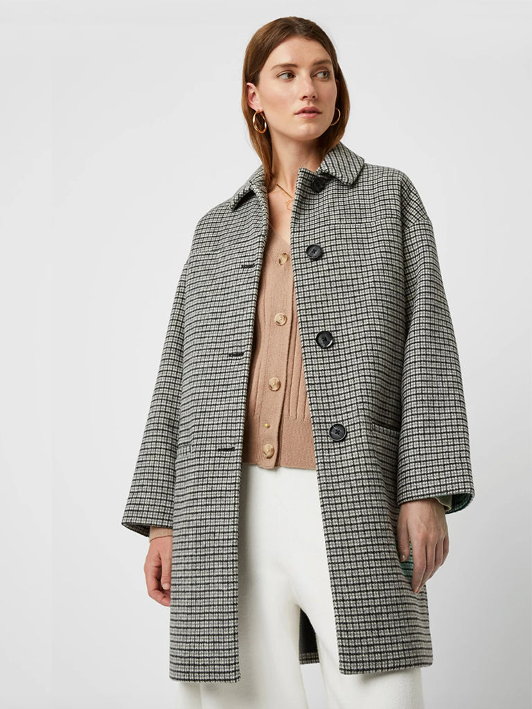 Great Plains Elliot Coat in Black & Milk