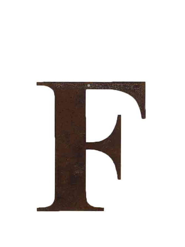 Re-found Rusty Letters F
