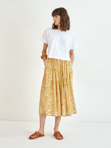 Suncoo Farrah Skirt in Ochre
