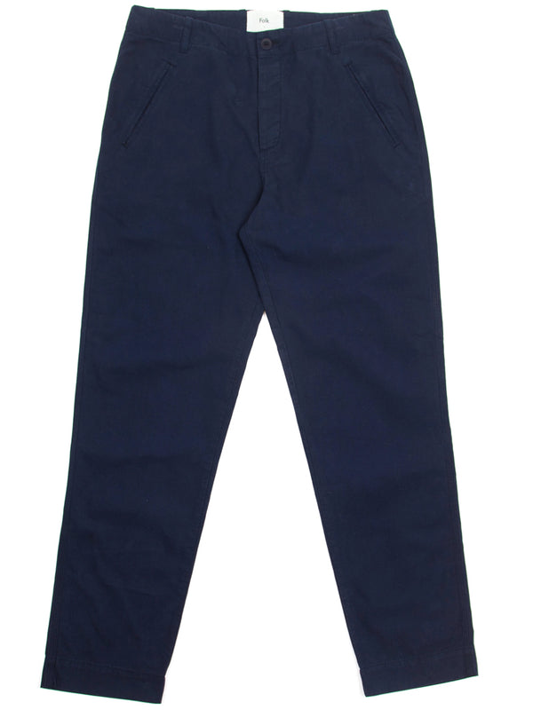 Folk Lean Assembly Trousers in Navy