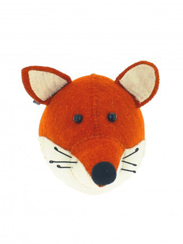 Fiona Walker Mini Fox Head in Brown