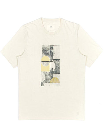 Folk Fracture T-Shirt in Off White