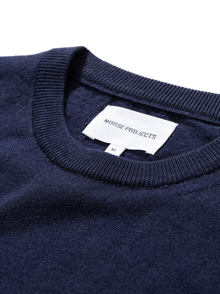 Norse Projects Sigfred Sweater in Dark Navy