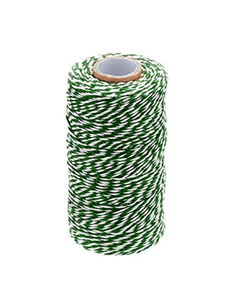 Re-found Cotton Stripy String in Green & White