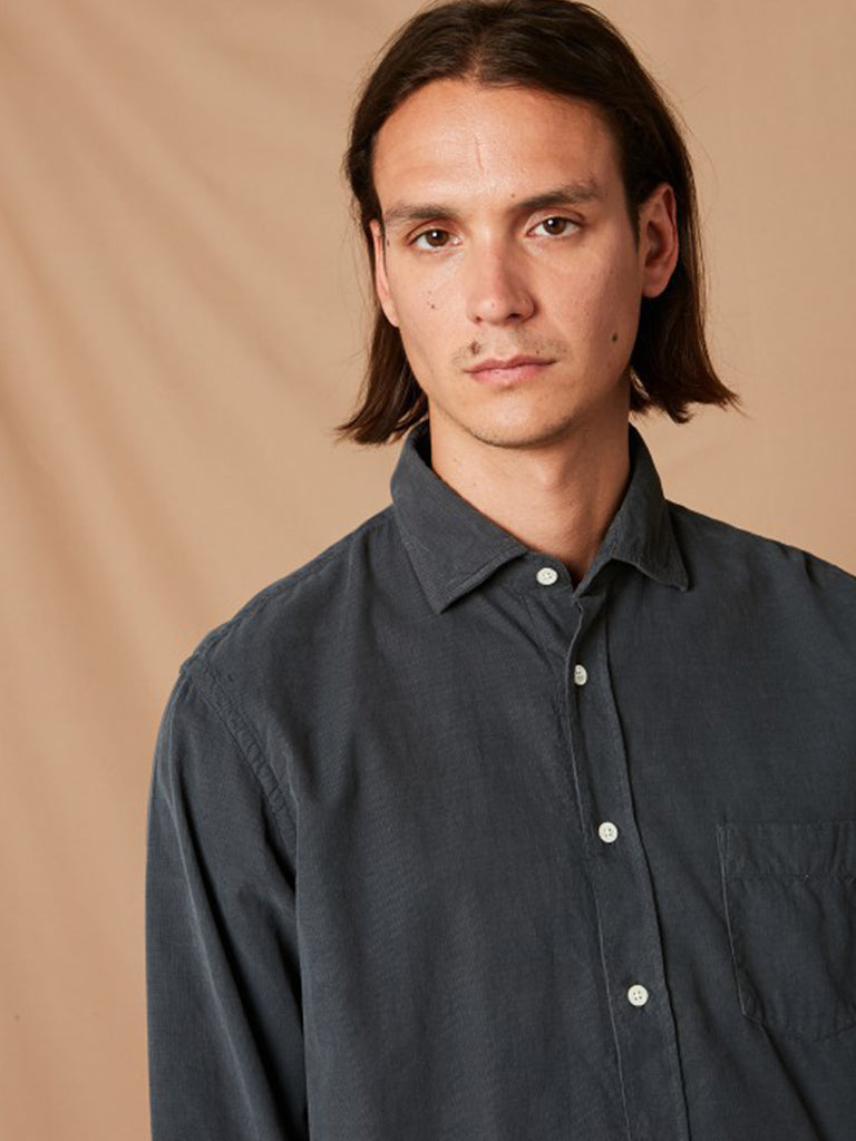 Hartford Paul Corduroy Shirt in Graphite