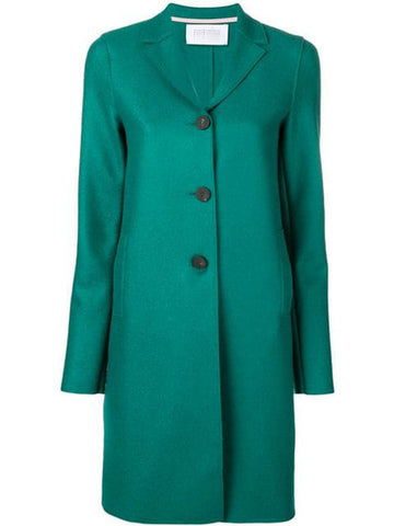 Harris Wharf Pressed Overcoat in Evergreen