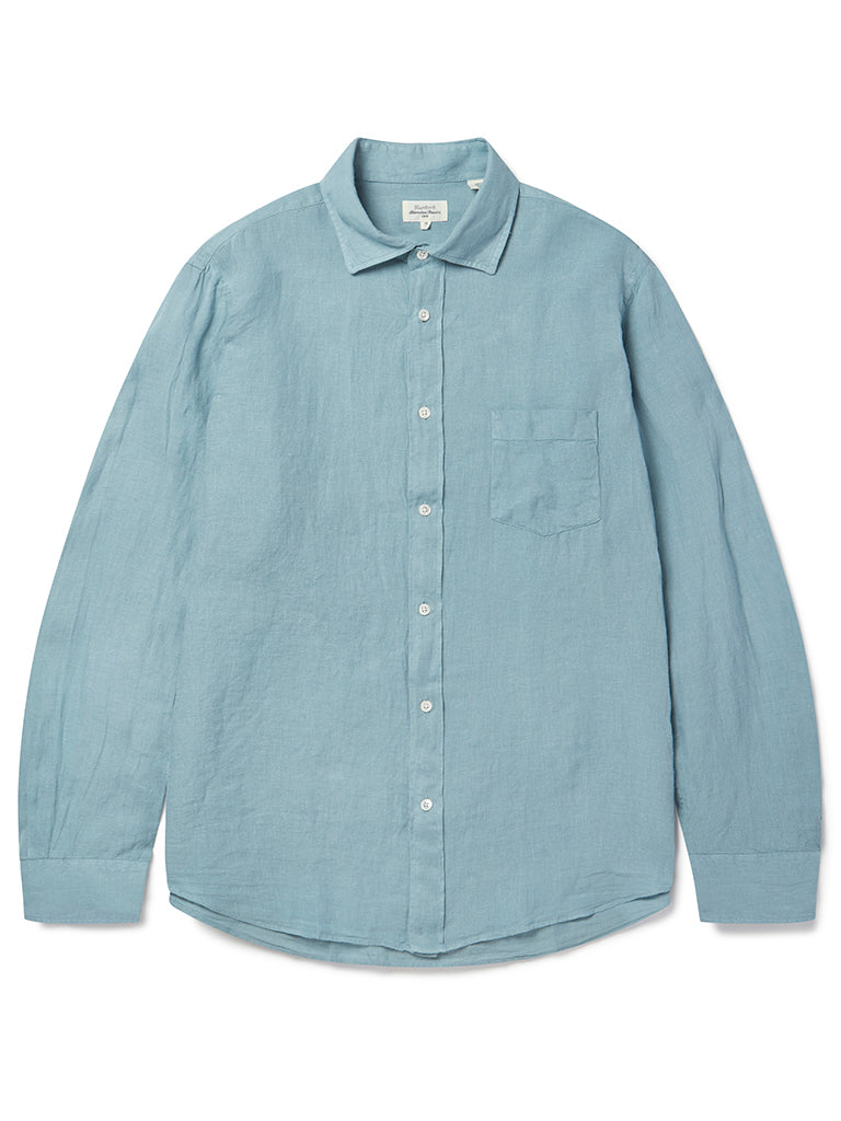 Hartford Paul Linen Shirt in Oyster