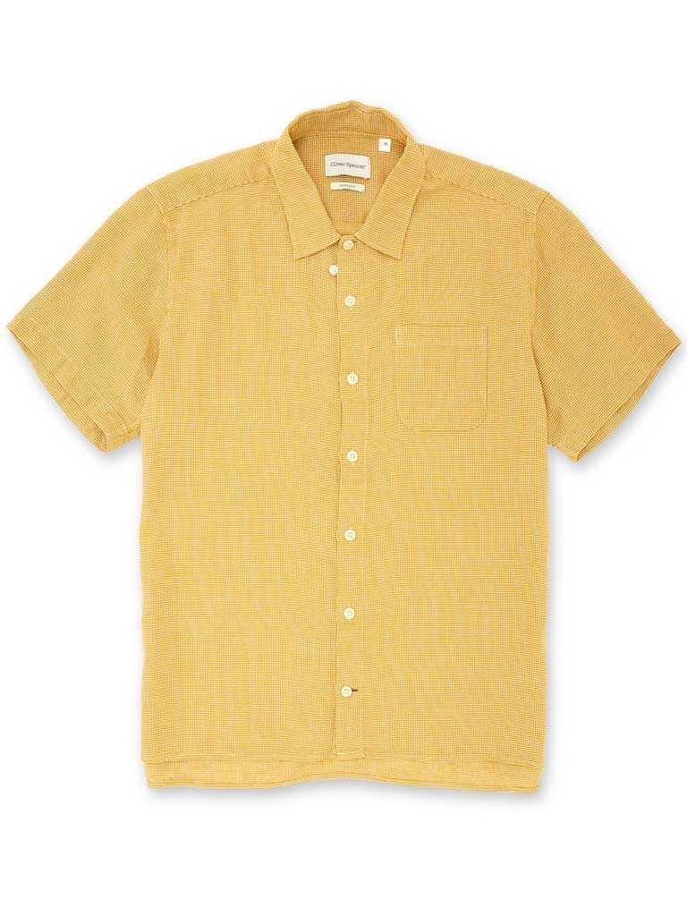Oliver Spencer Hawaiian Shirt in Pavilion Yellow