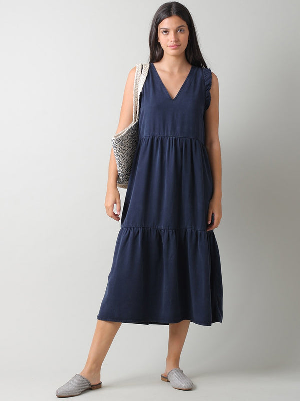 Indi & Cold Clara Lyocell Dress in Marino
